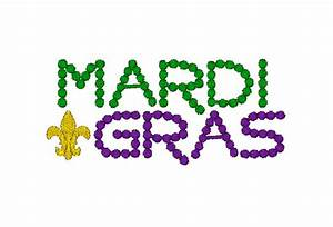 mardi gras bead font machine embroidery design by With mardi gras lettering