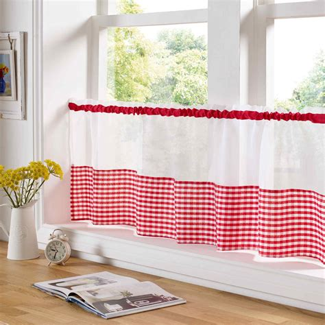 country curtains for kitchen country style kitchen gingham curtain pair window drapes 6734