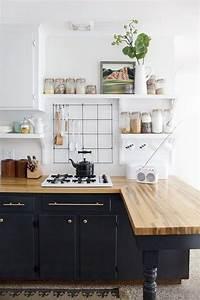Cuisine Blanc Et Noir : 1001 id es cuisine noir mat et bois l gance et sobri t ~ Voncanada.com Idées de Décoration