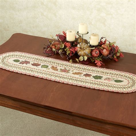 table runner for oval table autumn leaves oval braided table runner