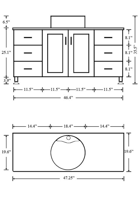 Height Bathroom Cabinet by What Is The Standard Height Of A Bathroom Vanity From