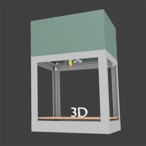 animated  printer  model animated obj ds blend