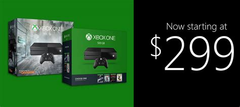 Xbox One Console Cost by Xbox One Gets Temporary Price Cut 1tb Console With 5
