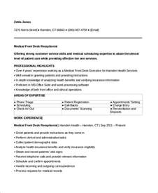 sle receptionist resume 6 exles in word pdf