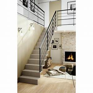Rampe Escalier Lapeyre : escalier droit jazz escaliers ~ Carolinahurricanesstore.com Idées de Décoration