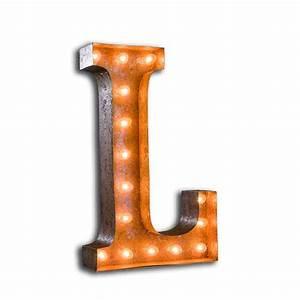 letter light l the vintage industrial With lighted letter l