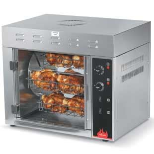 kitchen islands with cooktop cayenne chicken rotisserie oven holds 8 3lb chickens 5272