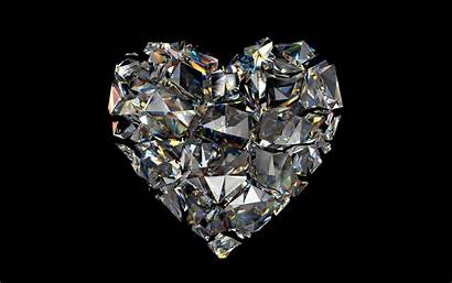 Diamond Heart Background Wallpapers Wall
