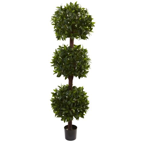 Nearly Natural 65 Ft Sweet Bay Triple Ball Topiary5399