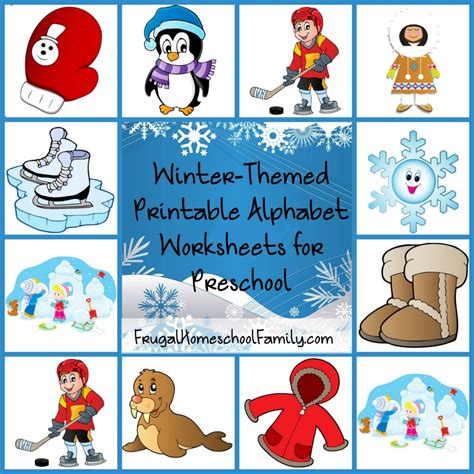 free winter themed printable alphabet worksheets for 410 | Free Winter Themed Printable Alphabet Worksheets for Preschool 1024x1024