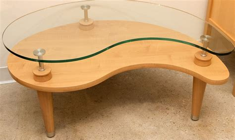 Kidney Shaped Glass Coffee Table  Interior Design Ideas