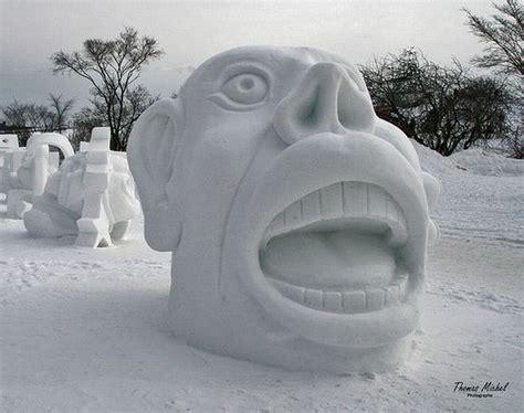 changement si鑒e social le grand changement festival de sculptures en neige