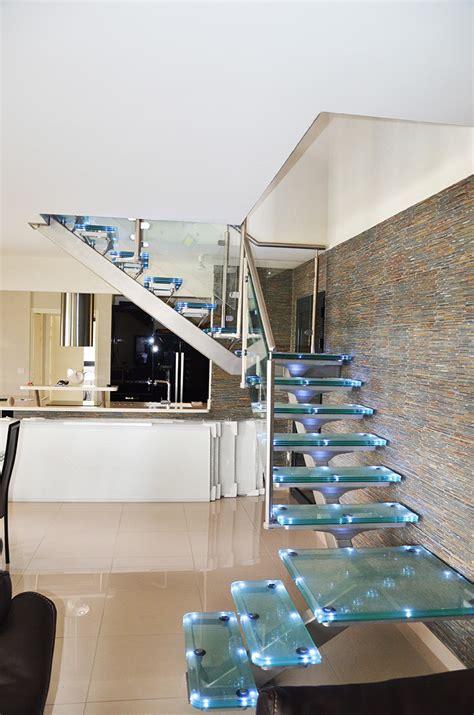 escalier en verre led righetti