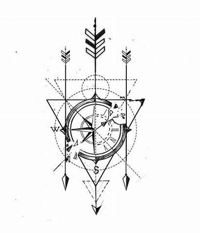 Tattoo Compass Tatuajes Geometric Drawings Tribal Tattoos