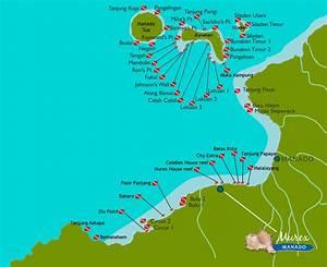 Dive Map For Sites Around Manado Bunaken BangkaMurex