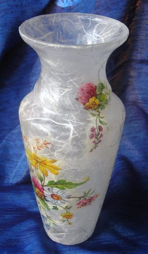 Decoupage Vase - best 25 decoupage glass ideas on decorated