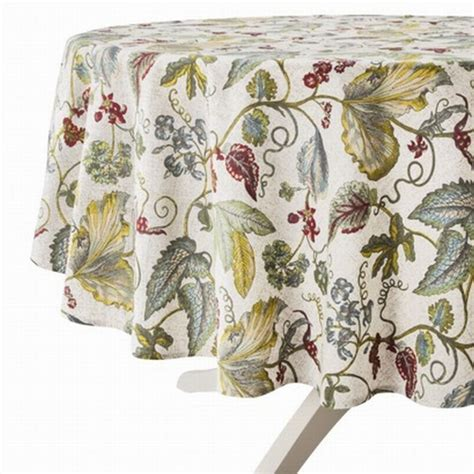 target threshold botanical leaves flowers tablecloth