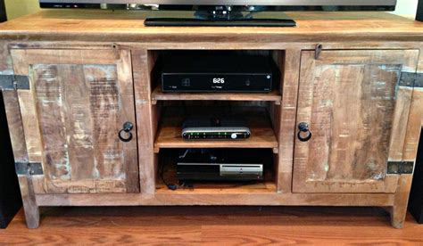 woodwork barn wood tv stand plans  plans