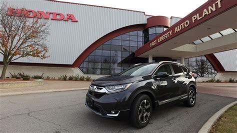 Honda Cr V Production by 2017 Honda Cr V Production Gets Rolling In Ohio