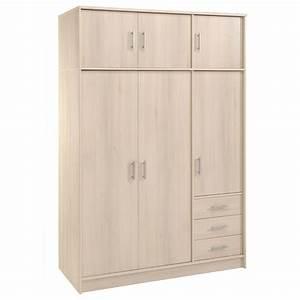 Armoire 6 Portes : armoire 6 portes 3 tiroirs galaxy acacia ~ Teatrodelosmanantiales.com Idées de Décoration