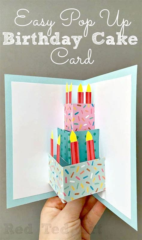 easy pop  birthday card diy  images simple