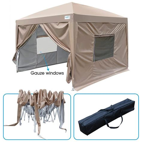 upgraded privacy  ez pop  canopy tent instant canopy folding party tent  side walls
