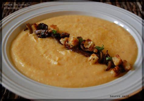 comment cuisiner un panais soupe de panais pleurotes poêlés et petits croûtons par