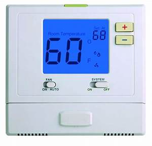 Single Stage 1 Heat 1 Cool Digital Room Thermostat Non