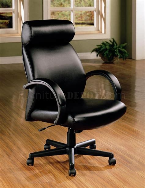 black vinyl leather high back executive office chair w gas