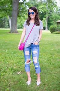 Summertime Casual Outfit in My Favorite Destroyed Jeans | MrsCasual