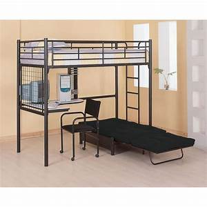 Bunk bed with futon home twin loft bunk bed with futon for Bunk beds with futon and desk