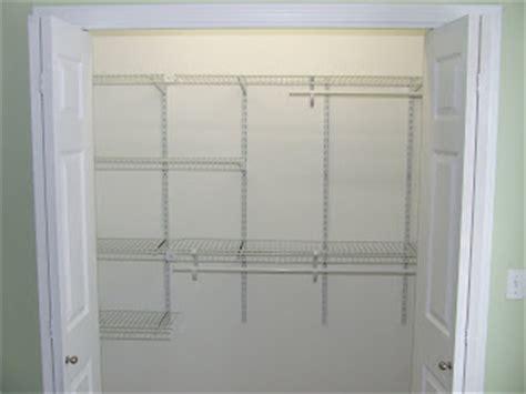 how to install closet wire shelves home construction