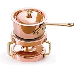 amazoncom mauviel copper    butter warmer kitchen dining