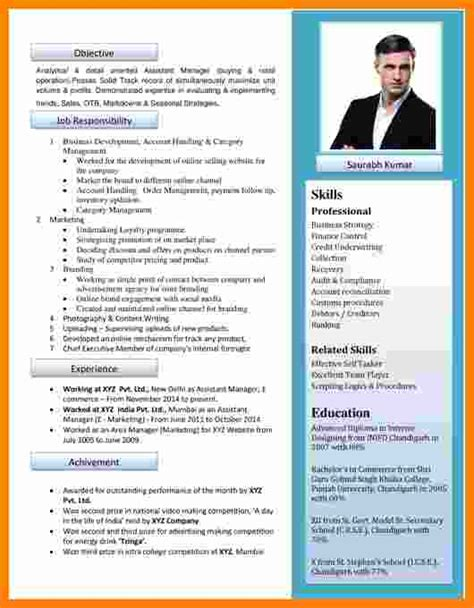 New Cv by 5 Cv New Format Theorynpractice