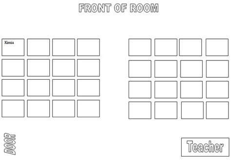 seating chart template word computer lab seating chart template k 5 computer lab