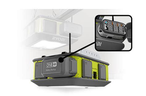garage door battery backup ryobi 2 hp remote garage door opener wifi battery