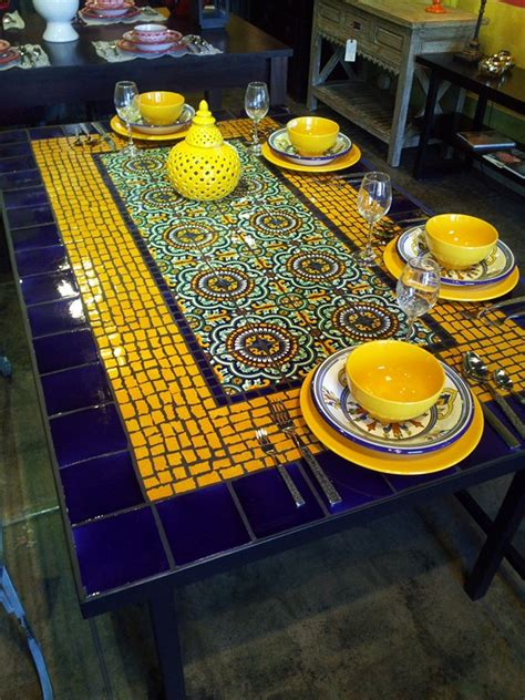 mexican tile coffee table mosaic dining table table picture and infos table picture