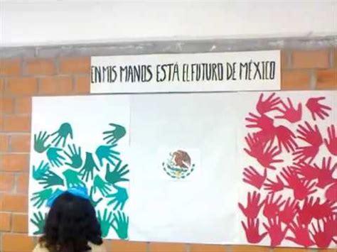 alumnos elaboran banderas de m 233 xico youtube