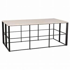 macy black geometric white granite outdoor coffee table With black geometric coffee table