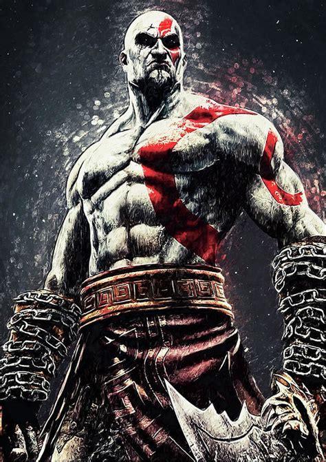 God Of War Kratos Art Print By Zapista Zapista
