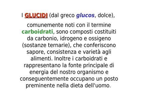 glucidi dispense