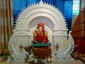 Ganpati Decoration Ideas Thermocol Makar | Joy Studio ...