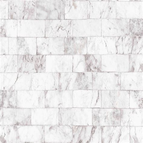 Contour Carrera Grey Marble brick Wallpaper   Departments