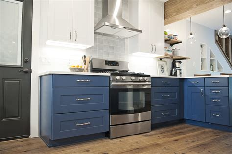 blue kitchen cabinets trend alert blue kitchen cabinets wolf home products