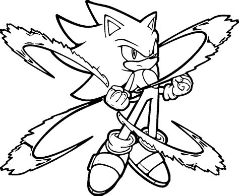 The Power Of Super Sonic Coloring Pages Coloring4free