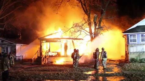 flint michigan fire video  fully involved house fire