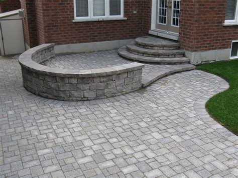 interlocking designs paradise views landscaping landscaping backyards with interlock patios and seat walls