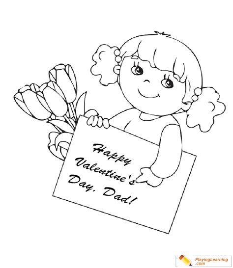 valentine day coloring card  dad   valentine day coloring card  dad