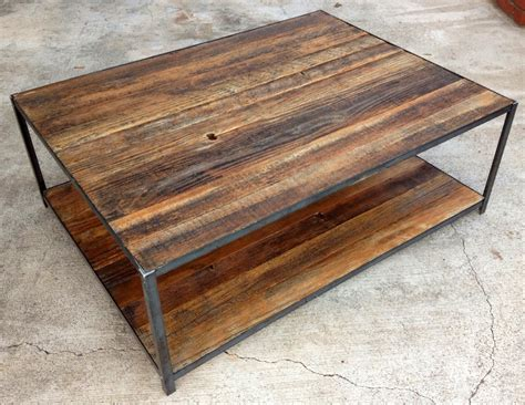 Tisch Recyceltes Holz by Reclaimed Wood And Angle Iron Coffee Table 400 00 Via