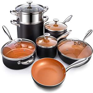 nonstick copper cookware set ceramic cookware pro